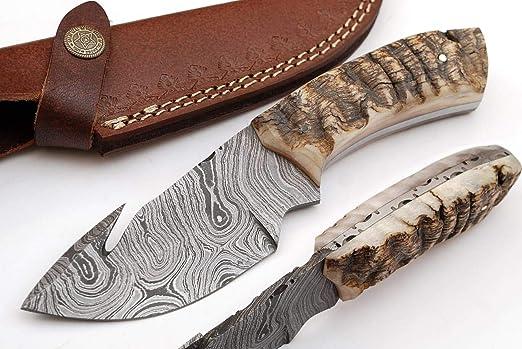 Beautiful Damascus Gut Hook Knife