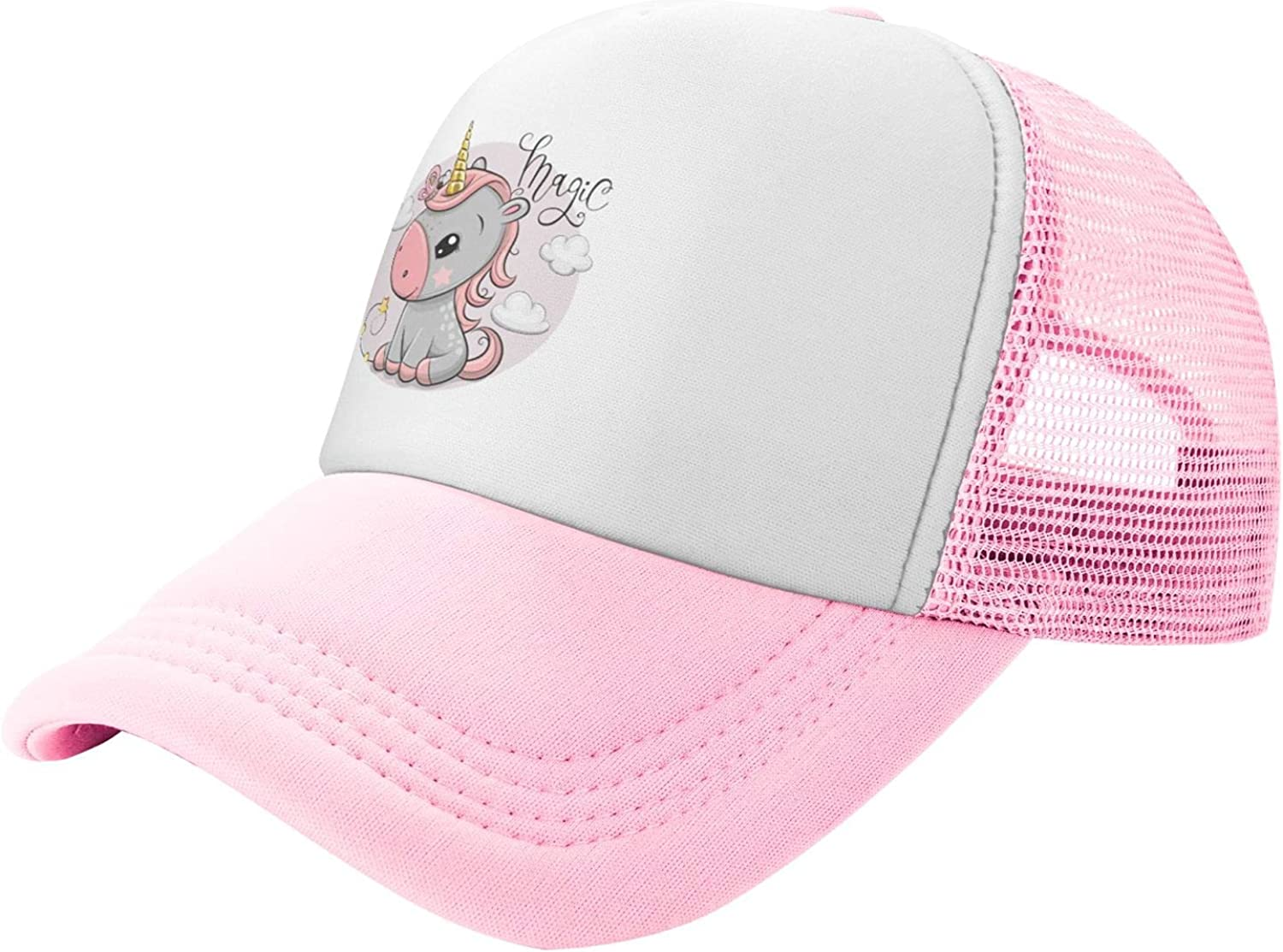 Unicorn Gold Horn Clouds Mesh Snapback Quantity limited Hat Trucker Toddler Save money Kids