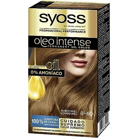 SYOSS - Oleo Intense Coloración Permanente Sin Amoníaco - Tono 8-60 Rubio Miel - 2 uds