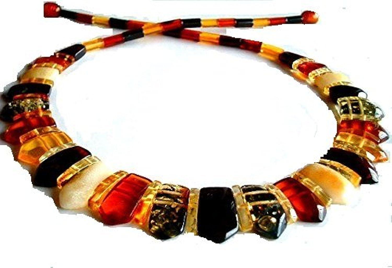 AMBERMILANA Amber Necklace Collar Natural Baltic Amber