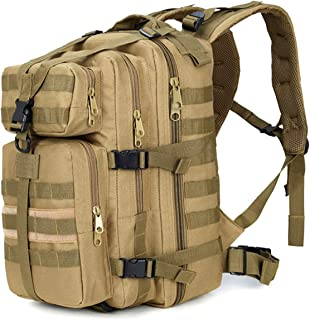 Tactical Military Molle Hiking Hunting Camo Backpack Motorcycle Assault Pack Bug Out Bag Travel Camping Rucksack