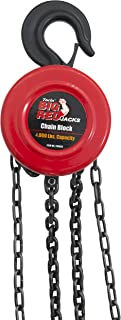 Torin Big Red Chain Block / Manual Hoist with 2 Hooks, 2 Ton (4,000 lb) Capacity