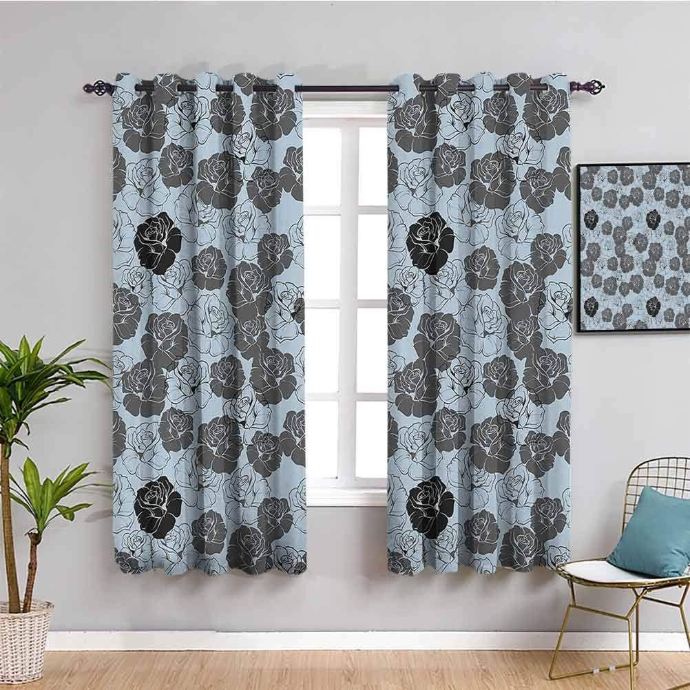 Floral Decor Room 激安通販ショッピング Darkened Heat 100%品質保証 Curtain Insulation Roses Vintage