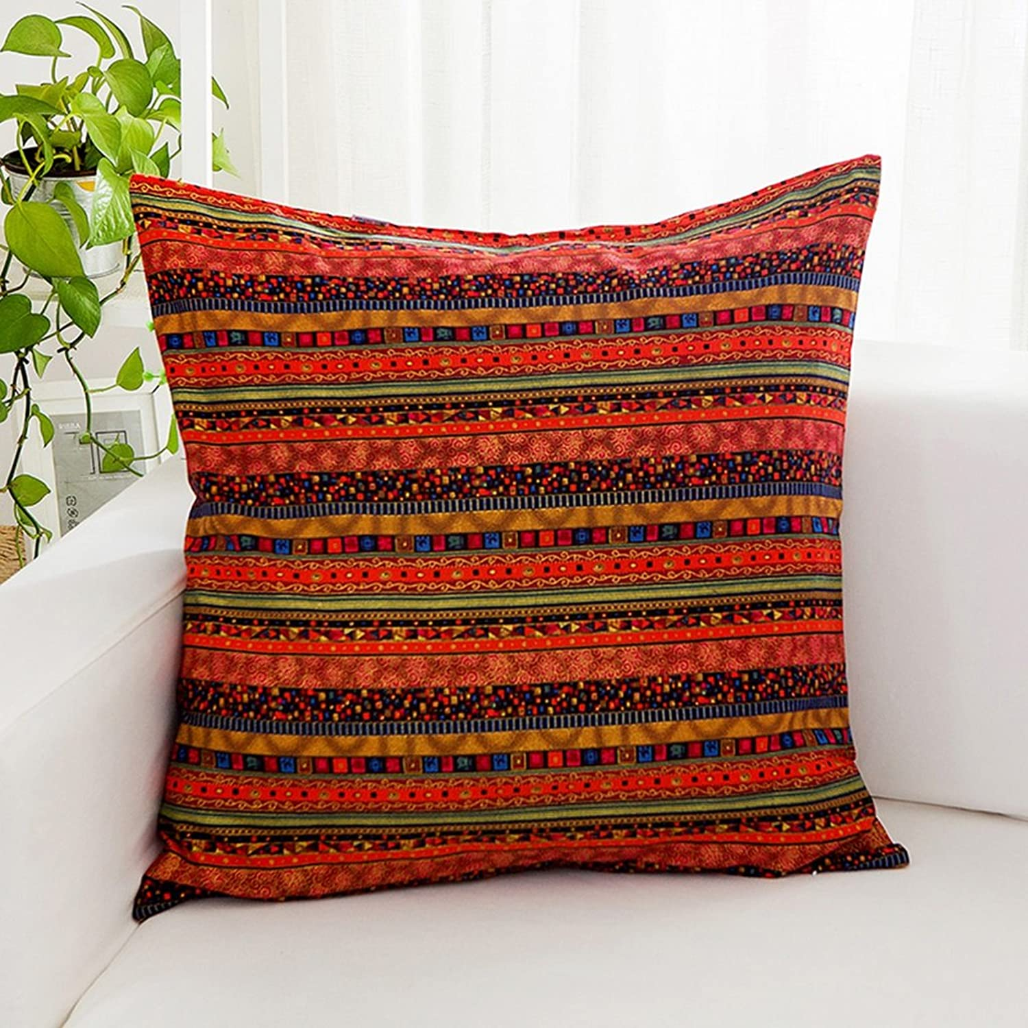 ZUOANCHEN Cushion Car Pillow Home Sofa Embroidery Cushion Bed Pillow Square Pillowcase with Core 45  45CM (color   Style-1)