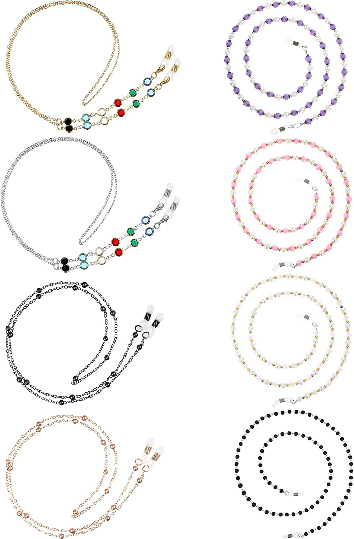 8 Pieces Eyeglasses Chains Beaded Sunglasses Elegan Strap Popular overseas Fashionable Holder