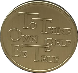 To Thine Own Self Be True with the Serenity Prayer - Bronze Medallion