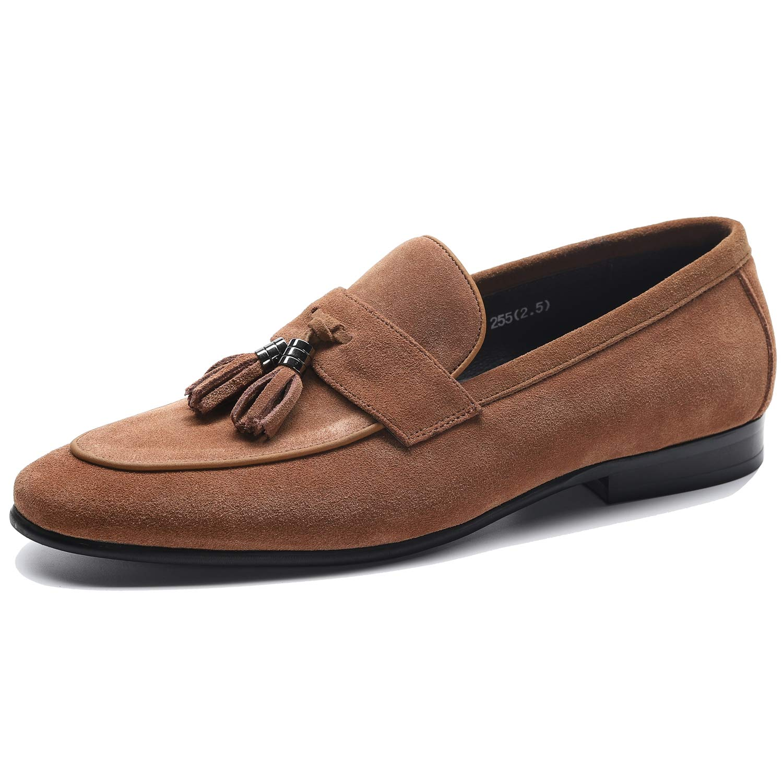 [WEWIN] ビジネスシューズ タッセルローファー メンズ 本革 スエード モカシン スリッポン 紳士靴 ドライビングシューズ カジュアル ファッション