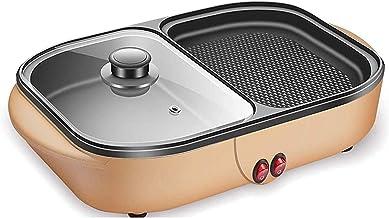 Huishoudelijke Elektrische Grill Hot Pot Koreaanse Barbecue Hot Pot Dubbele Pot Geïntegreerde Fornuis Pot 2 in 1 Elektrisc...