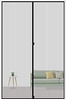 MAGZO Magnetic Screen Door 34 x 82, Reinforced Fiberglass Mesh Curtain Front Door Mesh with Full Frame Hook&Loop Fits Door Size up to 34