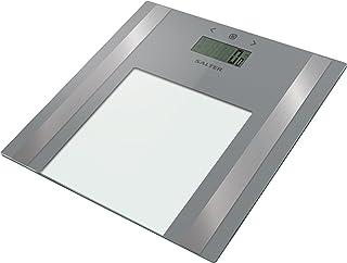 Salter - Básculas de baño: mida peso + grasa corporal, porcentaje de agua, IMC, 8 memoria de usuario y modo atleta, diseño elegante, pantalla de fácil lectura - 15 años de garantía