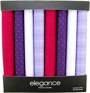Retreez 8 Piece Pure Cotton Assorted Men's Handkerchiefs Hanky Gift Box Set, Christmas gift - Assorted Set A5A006