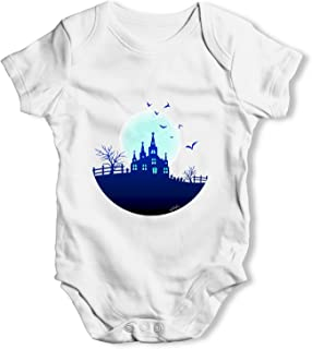 Haunted Mansion On The Hill Baby Unisex Funny Baby Grow Bodysuit