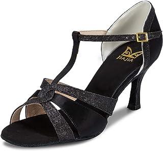 Sandales 20519 par JIA JIA - Chaussures de danse latines en satin - Talon apparent
