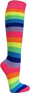 Women's Fashion Wide Striped Knee High Casual Tube Cotton Socks(1 Pair)