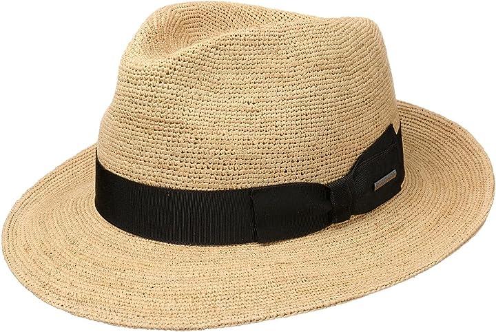 Cappello di paglia jenkins crochet donna/uomo - made in italy stetson B07QKX3HFR