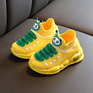 Baby Girl Boy Sport Mesh Breathable Cartoon Caterpillar Knit Yeezy Sneakers Kid Casual Fashion Running Nonslip Shoes