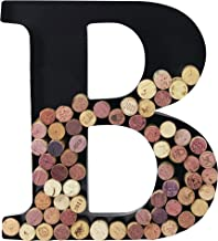 Metal Wine Cork Holder Monogram Decorative Wall Letter (B)