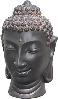 Color plata 38cm .Muy decorativo para jardín Material resistente Buda de piedra shakia