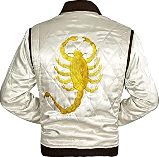 scorpion white leather jacket