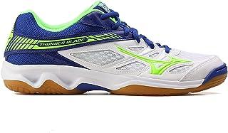 MIZUNO V1GA177036 Thunder Blade Men's Volleyball Shoes, White/Green Gecko