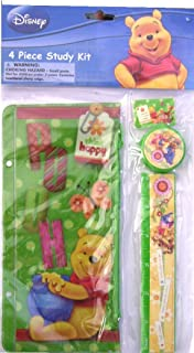 Winnie the Pooh 4 Piece Study Kit - Ruler, Pencil Pouch, Pencil Sharpener & Eraser