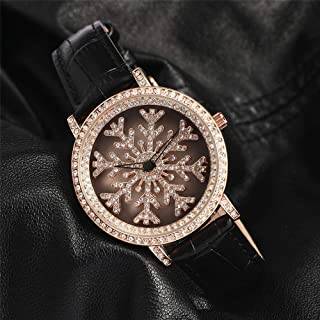 Wangyr When Running The Watch/Snowflake, Run The Color Watch/The Goddess Watch/Waterproof Quartz Leather Watch/Life Waterproof Design Unique Fashion Classic Casual Luxury Business Dress