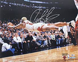 Signed Dennis Rodman Photo - 16x20 Horizontal Diving BAS Witnessed - Beckett Authentication - Autographed NBA Photos