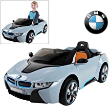 Official Licensed BMW Ride On Car with Remote Control for Kids   12V Power Battery i8 Kid Car to Drive with 2.4G Radio Parental Control Blue