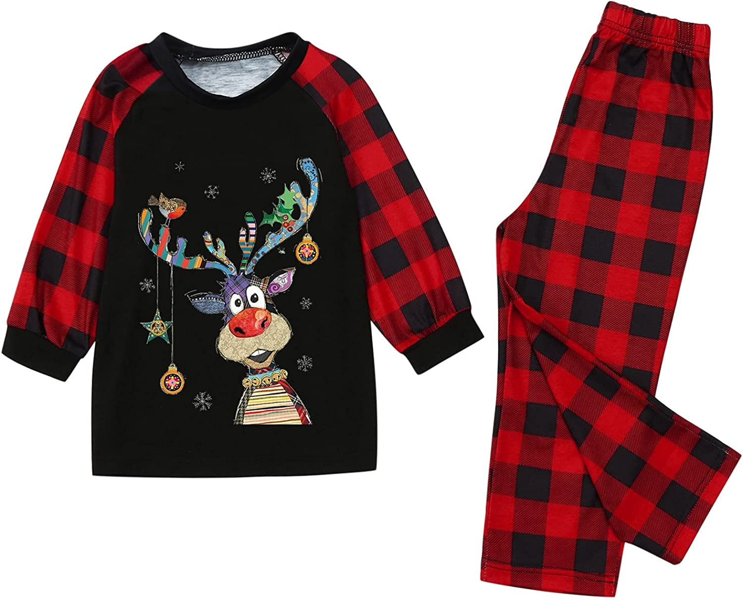 Matching Family Christmas favorite Outfits National products Red Plaid and Mom Dad Pajamas