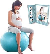 BABYGO Zwangerschap Fitbal Zitbal Fitnesball, Bevalling en Na de bevalling Yoga Oefenbal Fysiobal Gymbal Anti-burst 65cm 7...