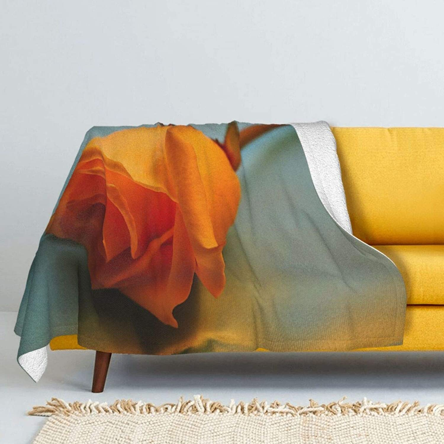 Yellow Rose Lamb Wool Fashionable Throw Special price for a limited time Blanket Super Double-Sided Soft