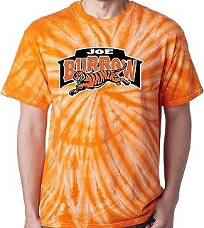 Shedd Shirts TIE-DYE Orange Cincinnati Burrow Logo T-Shirt