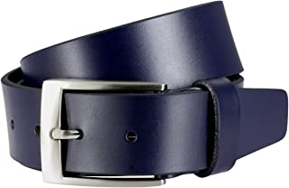 LINDENMANN Mens leather belt/Mens belt, full grain leather belt, navy
