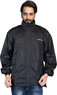 THE DRY CAPE ; LET IT RAIN- Feather-2.0 100% Water Proof Nylon Jacket for Men and Women Black