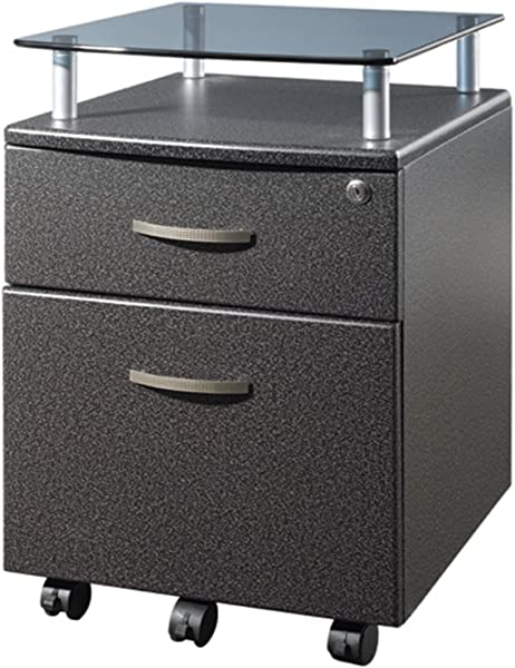 Compact Home Office Rolling Storage File Cabinet With Glass Top And Lockable Top Storage Drawer Wheel Caster Modern And Contemporary Multiple Finishes Expert Guide