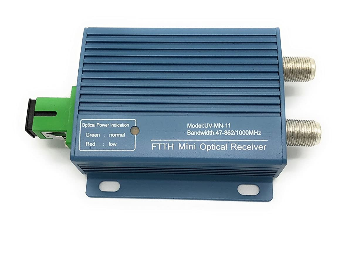 CATV Mini 1 Way Optical Fiber Node - Forward Only - FTTH 1310nm - Sturdy Design - Commercial Quality
