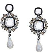 Oscar de la Renta - Runway Jewel P Earrings w/ Baroque Pearl