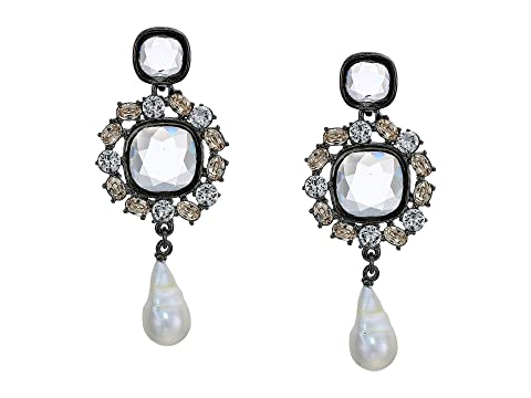 Oscar de la Renta Runway Jewel P Earrings w/ Baroque Pearl