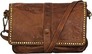 58aae21af9 Chapeau-tendance - Sac a main cuir bandouliere vintage camel - - Femme
