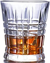 Whiskey Glasses SET OF 4 Premium Fashion Glass set - Lead Free Glass Cups and Tasting Tumblers for drinking Scotch, Bourbon. Irish whiskey, Brandy - Luxury Gifts for Men Women