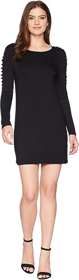 French Terry Crosshatch Sleeve Dress KS4K990S