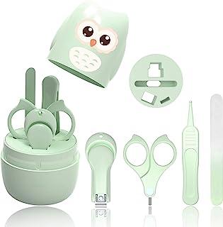 HyAdierTech Juego de cortaúñas para bebé - Juego de pedicura para bebé - Kit de aseo para bebé - Juego de cuidado para guardería con tijera de seguridad + Lima para uñas + Pinzas (B)