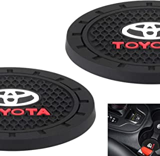 AOOOOP Car Interior Accessories for Toyota Cup Holder Insert Coaster - Silicone Anti Slip Cup Mat For Toyota 86 Camry Yaris Corolla 4Runner RAV4 Highlander Land Cruiser Prius(Set of 2, 2.75