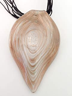 Murano Glass Spiral Leaf Pendant