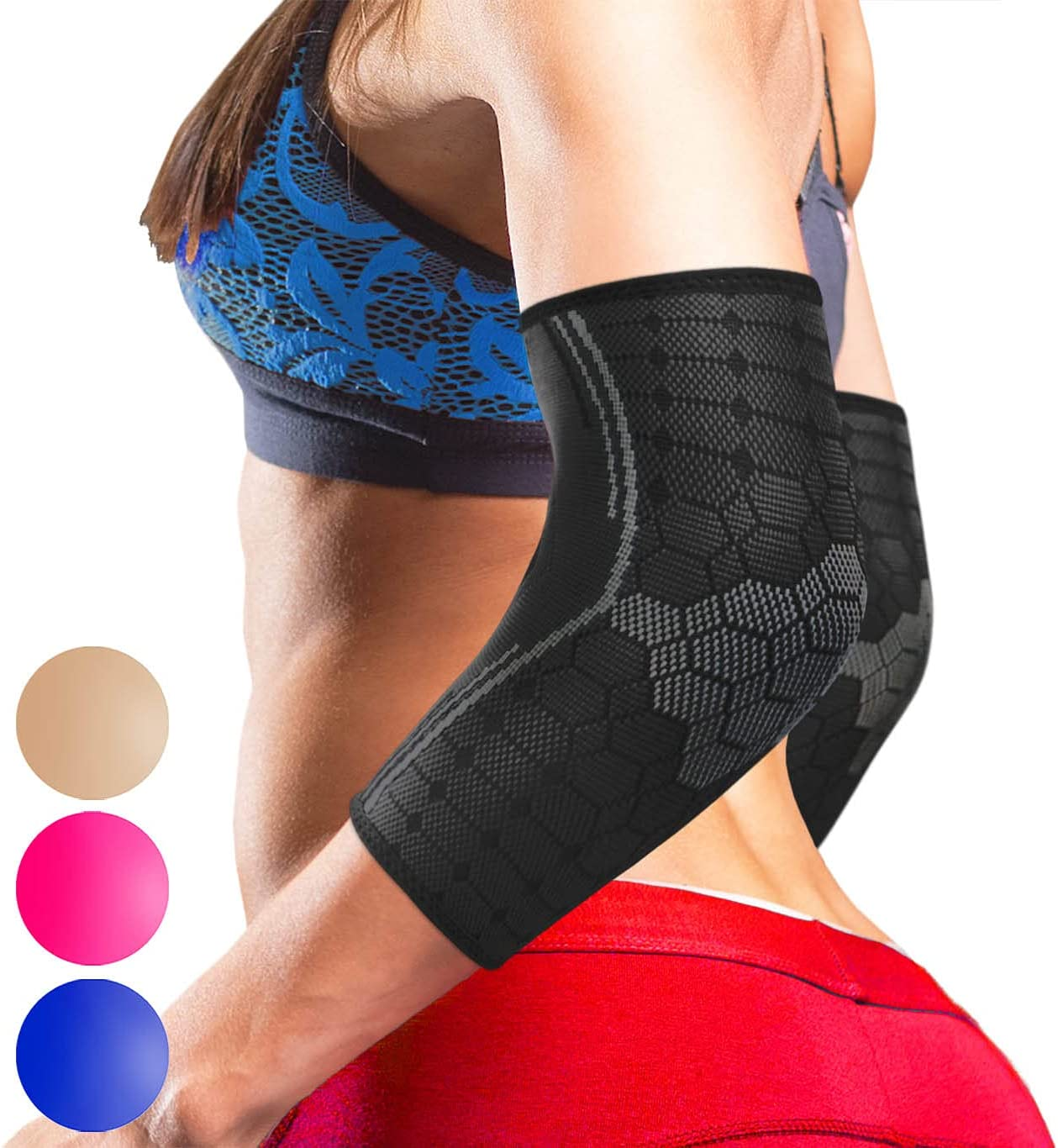 Sparthos Elbow Cheap mail order sales Compression Sleeves Challenge the lowest price of Japan ☆ Pair Golf and Tennis –