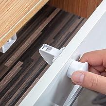 Cierres magnéticos para armarios y cajones, 4 cerraduras + 1 llave (concha)