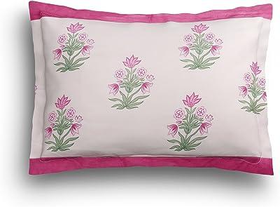 SEJ by Nisha Gupta Cotton 180 TC Bedsheet (King_Green)