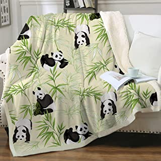 Warm and Snuggly Panda Pandacorn with Rainbow Tail Plush Soft Cozy Throw Blanket 50 x 60 inch Multi Colored Great Gift Warm /& Snuggly
