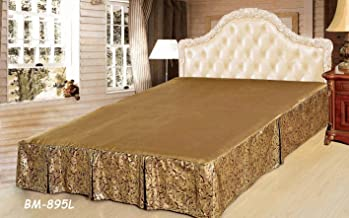 Tache Brown Golden Noodle Bed Skirt, King