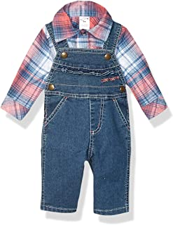 Carhartt Baby Girls Overall and Top 2-Piece Clothing Set